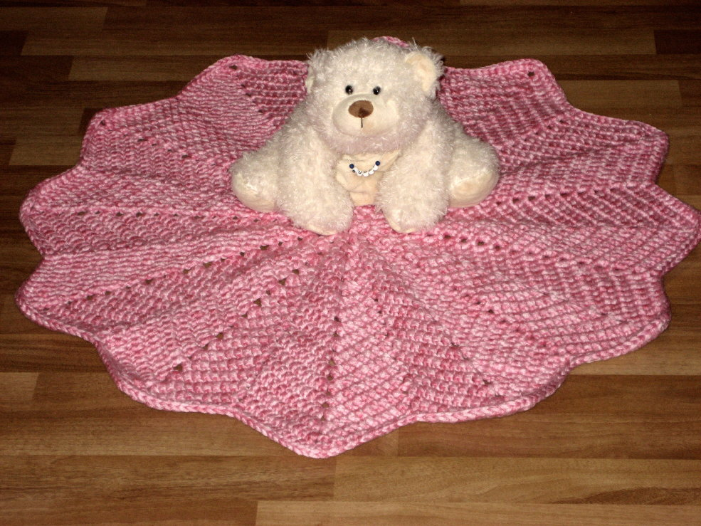 Crochet Pattern For Chevron Baby Afghan : BABY BLANKET CROCHET RIPPLE ROUND - Crochet ? Learn How to ...