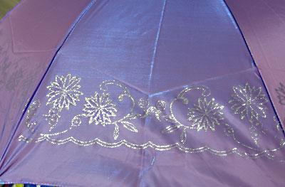 metallic frosted umbrella