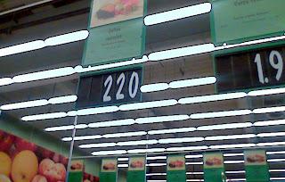 interior la magazinul Kaufland din Pavlov, Iasi, la sectorul de legume