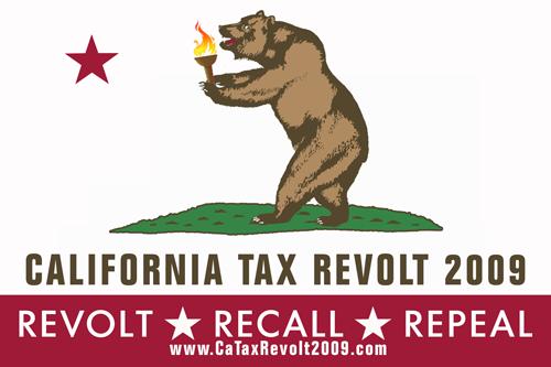 California Tax Revolt Flag