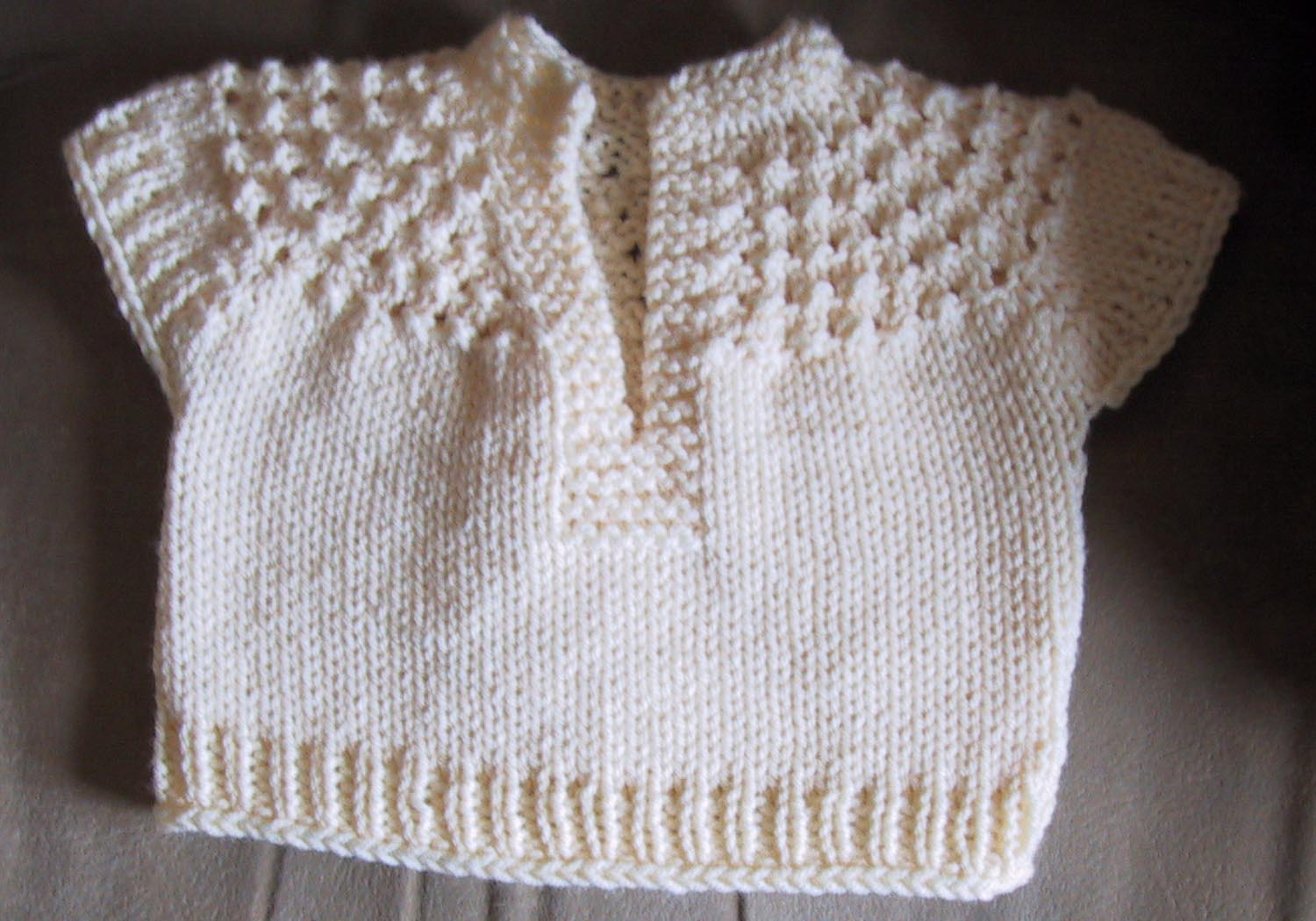 Free Knitting Patterns For Toddler Pullovers : Suzies Stuff: BABY GIRLS SHORT SLEEVED PULLOVER