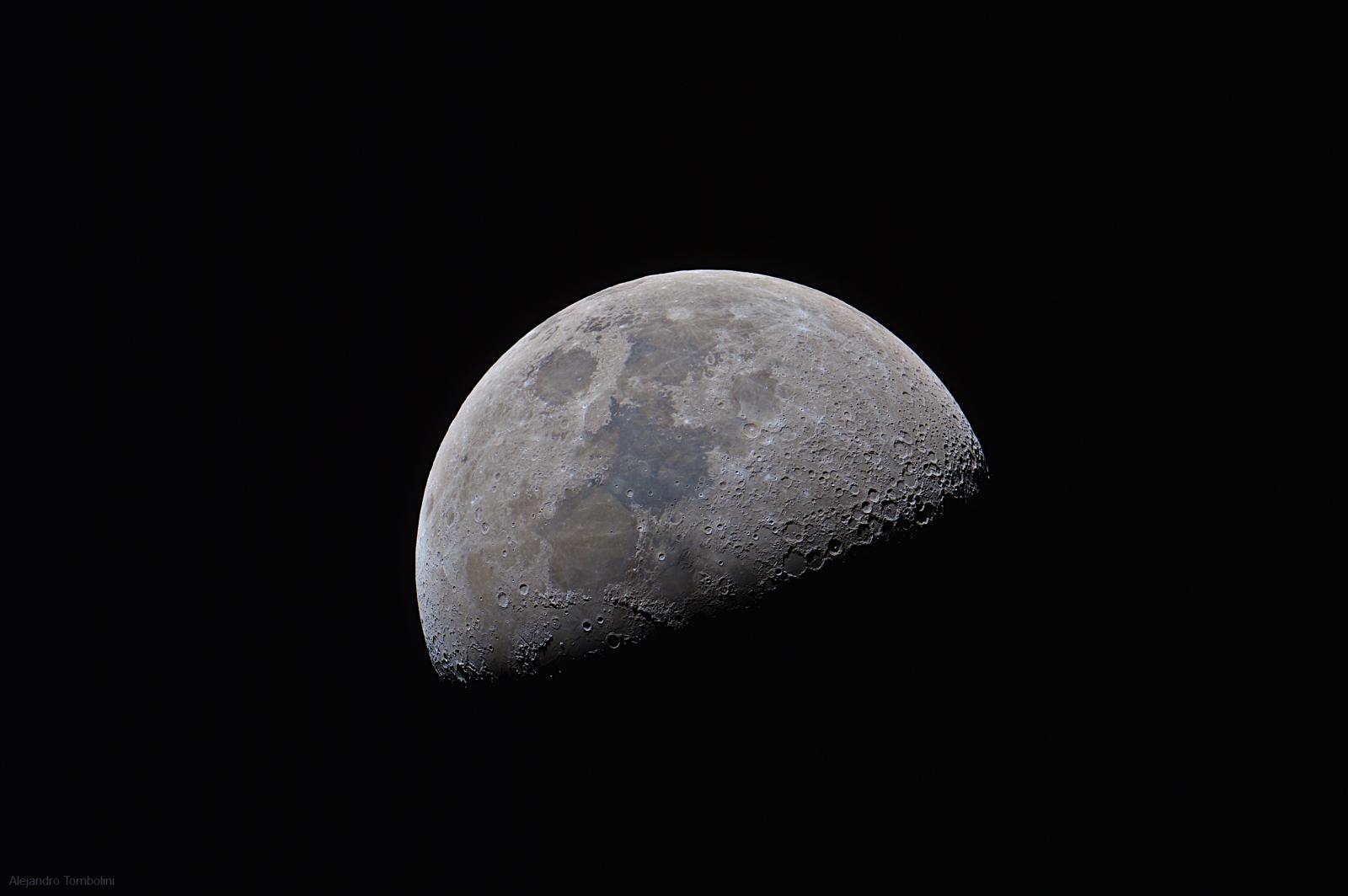pr xima sur luna cuarto creciente