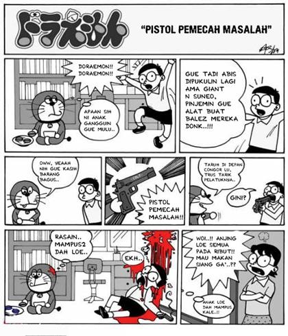 Doraemon Sadis-Pistol Pemecah Masalah