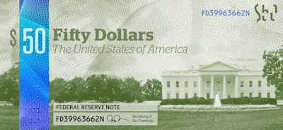 Новые, долларовые, купюры, США, mew, banknotes, FRS, Federal Reserve,Bank, banknotes, new, dollars, USA