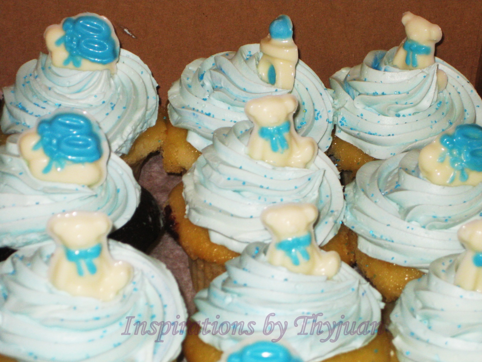 inspirations by thyjuan llc baby shower cupcakes
