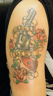 Atomik daddy 39 s girl tattoo for Daddys girl tattoo