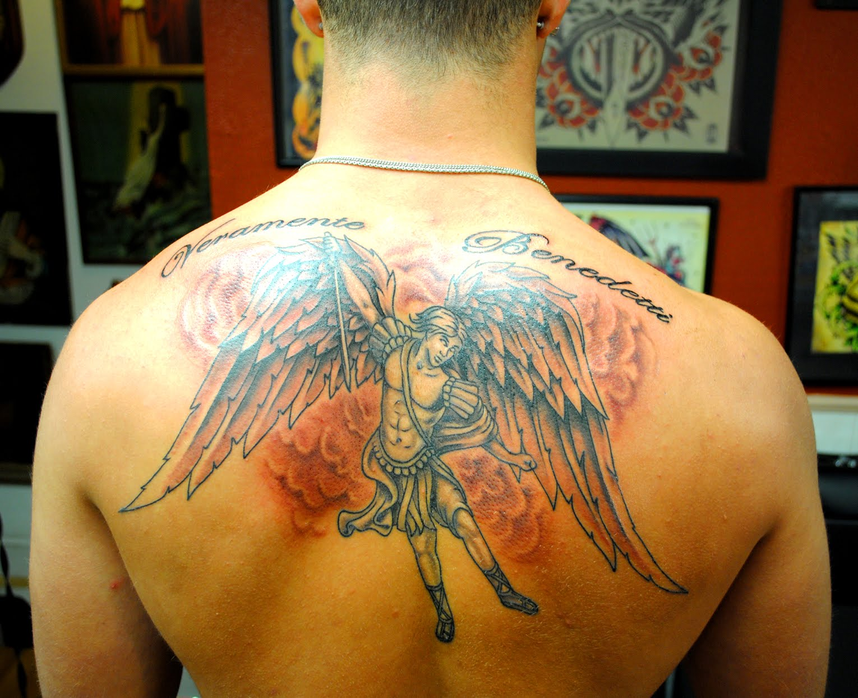 Архангел михаил тату на спину