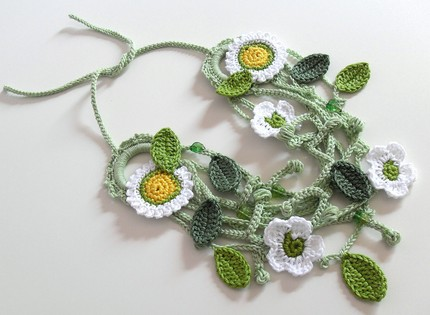 How To Crochet Bead Rope Necklace | How to Crochet