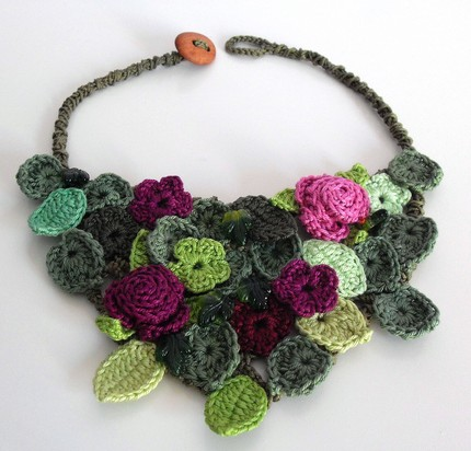Free Crochet Heart Necklace Pattern : Information about croheti.com: - Crochet Club