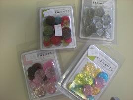 NEW Glitter buttons