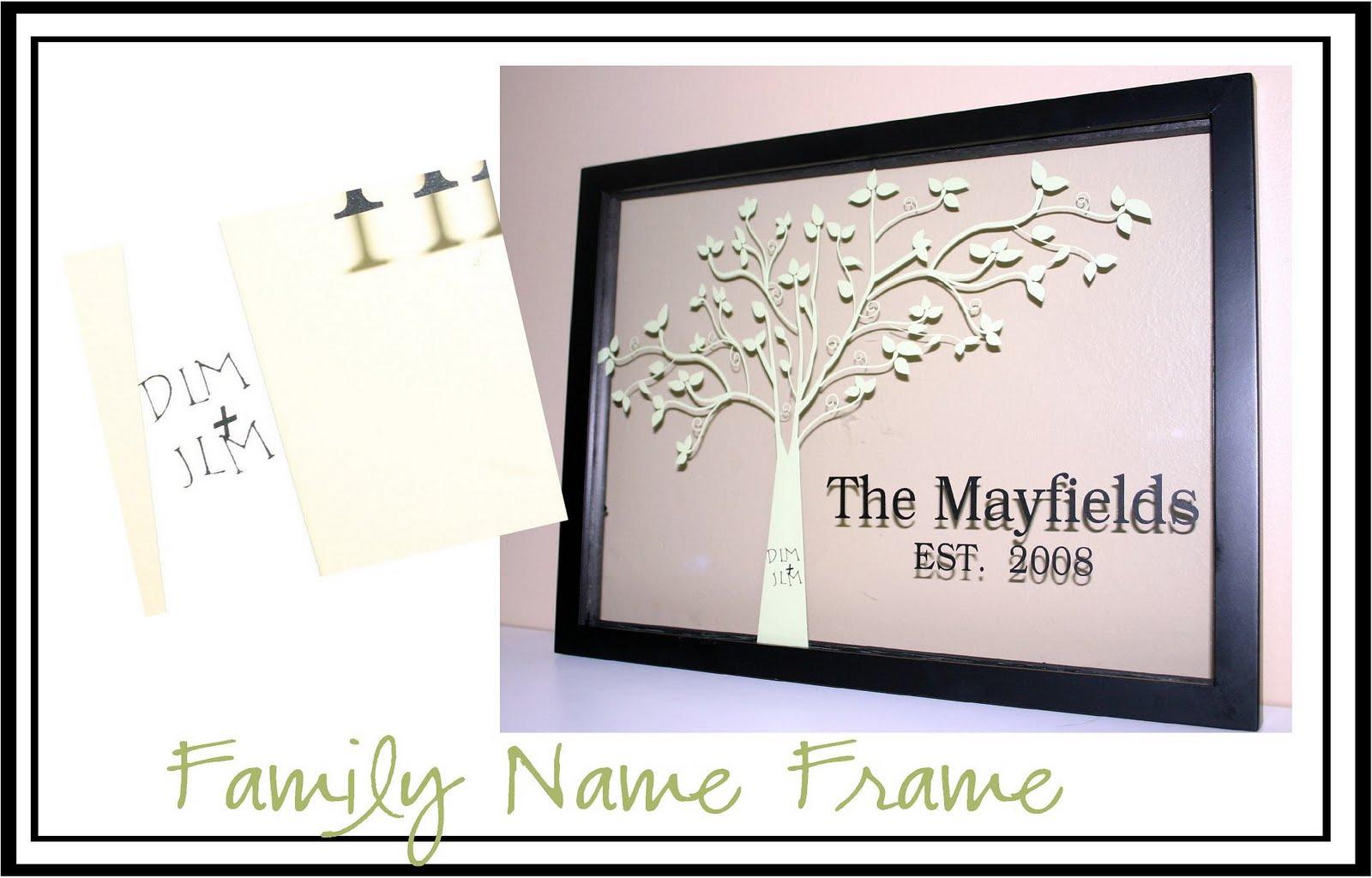 Fontaholic: Framed Family Name with Tree
