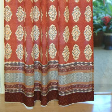 Indian print curtains