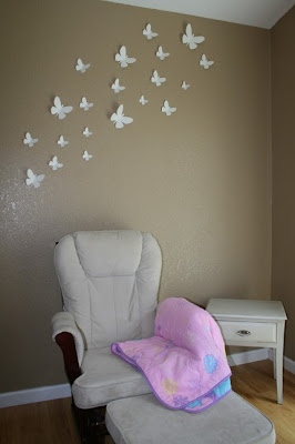 The funky monkey embellished paper 3d butterfly wall for Room decor embellishment art 3d
