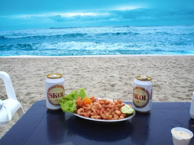 cervejinha e praia