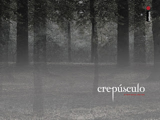 Papel de parede crepúsculo - floresta