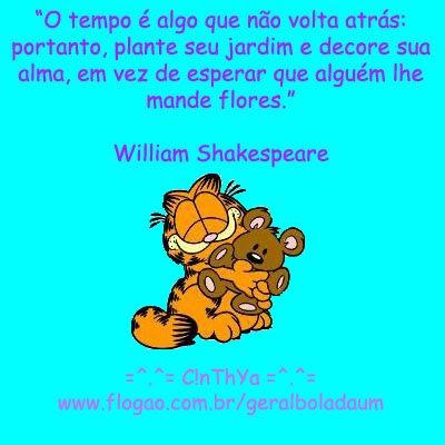 Tempo não volta atrás, de Shakespeare
