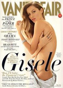 Capa da Vanity Fair com Gisele Bundchen