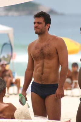 Rodrigo Lombardi na praia