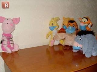 Aprisionamento do leitão do Pooh por conta da gripe suína