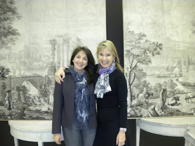 Of Course Tara Shaw Was There, Amid A Backdrop Of Chocolate Brown Walls,  With The Most Beautiful Furniture.