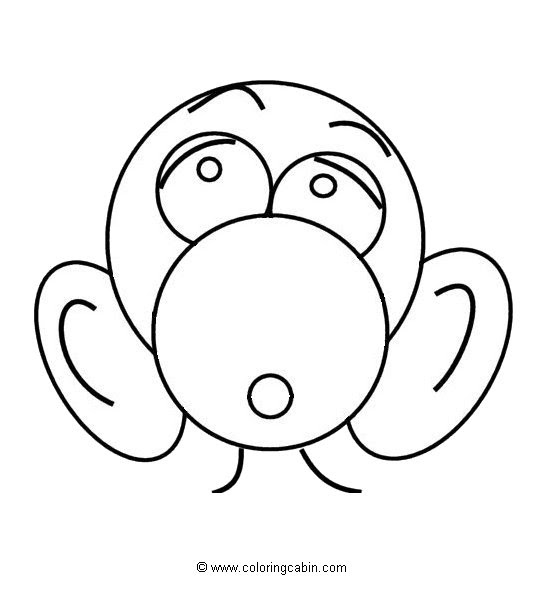Animals faces coloring pages