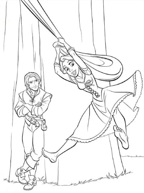 coloring cabin disney 39 s tangled coloring pages rapunzel