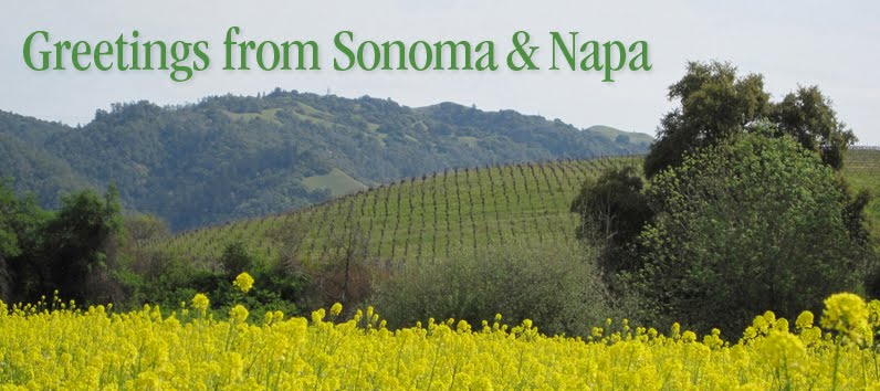 Greetings from Sonoma & Napa