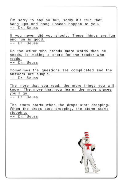 Quotes of Dr Seuss