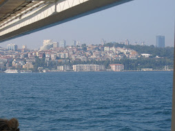View from the boat from Uskudar to Besiktas