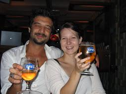 Mahir and Mia, toasting on her birthday