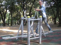 Me on the outdoor gym in the park