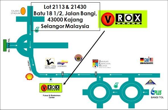 VroX Sports Centre Map