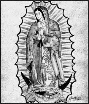 Dibujo Para Pintar O Colorear De La Virgen De Guadalupe Imagenes De La Virgen De Guadalupe Para Colorear