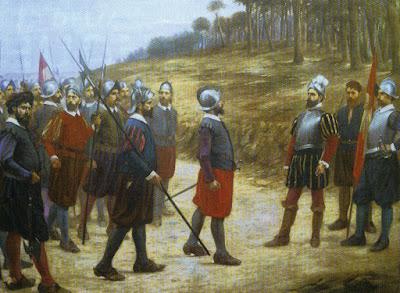 Episodio de la Isla del Gallo, en el Segundo Viaje de Pizarro