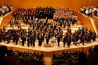 Final del concert de la cantata escènica Carmina burana a l'Auditori de Barcelona el 12 de juny del 2009