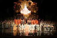 Final de la representación de Turandot en el Gran Teatre del Liceu, el 27 de julio 2009 en Barcelona