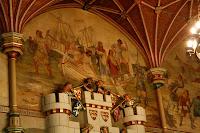 Pinturas en el castillo de Cardiff