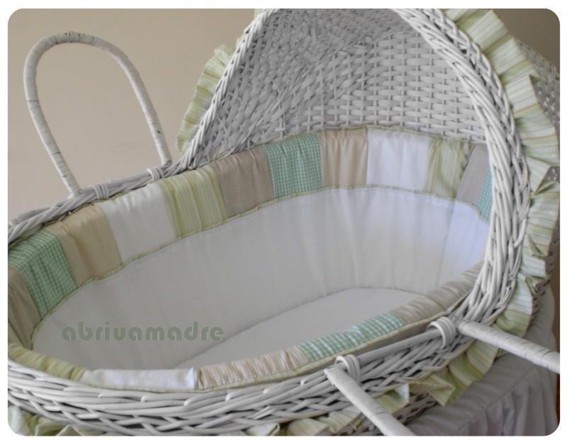Madre Moisés para Bebê Moises de Vime para Bebe Oliva R$828,00