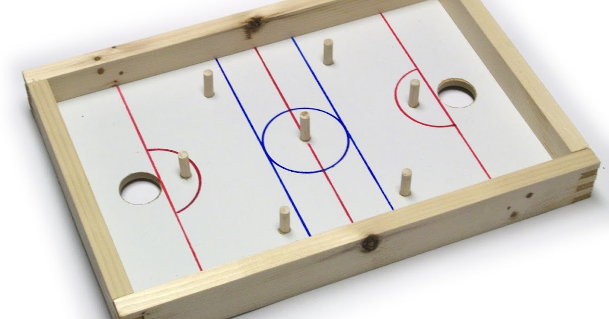 Mike S Wood Toys By Design Penny Hockey Rink Small