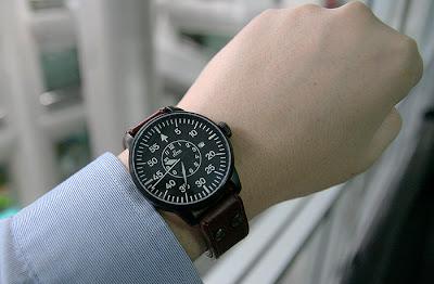 Laco Black Pilot Watch Limited 50 pcs.