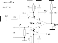 TDA TDA2052 IC PinningTDA2052 IC Pinning2052 HiFi Power Amplifier 60W Circuit