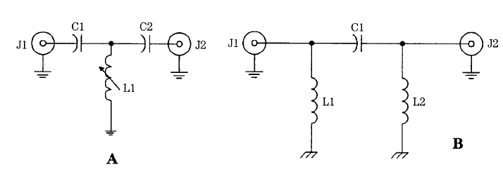 lc rf filter circuits band stop filter resonant filters filters