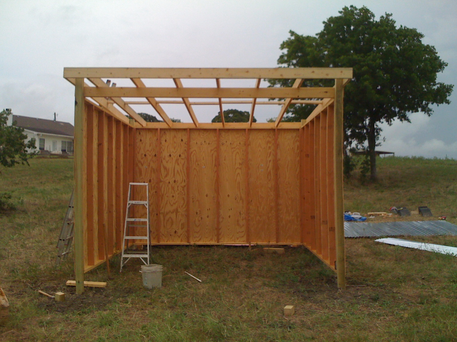 Know thyself doctor handyman and the horse shelter for Three sided shed plans