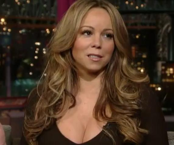 Mariah Carey's Big Boob On David Letterman