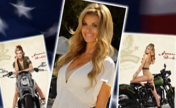 Sexy Marisa Miller Harley-Davidson Photo Shoot Tributing Military
