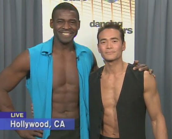 DWTS Castoffs Michael Irvin & 'Iron Chef America' Mark Dacascos Show Off Abs