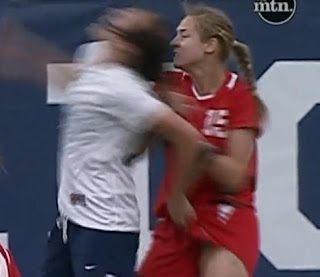 Douche Names Elizabeth Lambert of BYU Attacks New Mexico Woman Soccer Team!