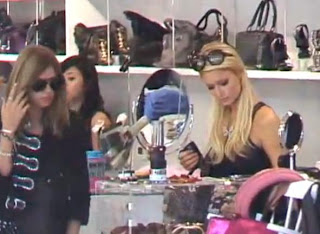 Paris And Nicky Hilton Shopping In Handbag Store Cause Frenzy Scene