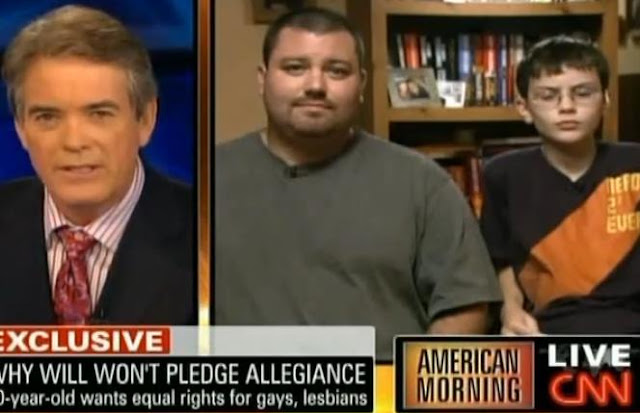 10 Years Old Refuses To Pledge Allegiance For Gay Inequality