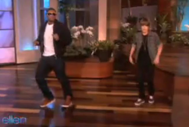 Justin Bieber And Usher Dancing On Ellen Degeneres Show